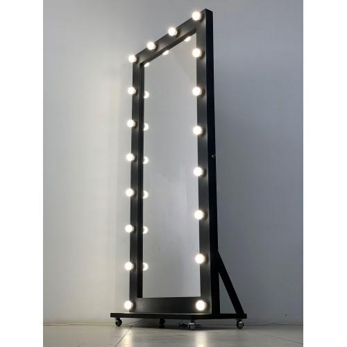 Гримерное зеркало на подставке с колесиками 160x80